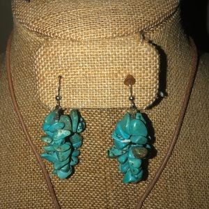 Jewelry - Turquoise earrings necklace and bracelets set